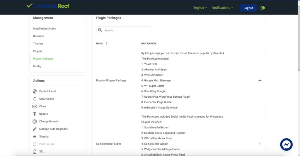 WordPress plugins-Websiteroof