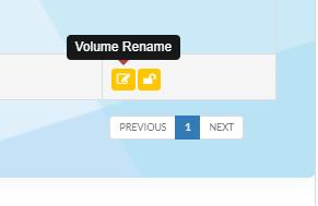 Volume rename button